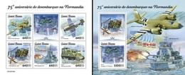 Guinea Bissau 2019, WWII, Normandy Landings, 4val In BF +BF - 2. Weltkrieg