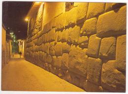 °°° 13742 - PERU  - VISTA NOCTURNA DE LA CALLE HATUN RUMIYOC - 1994 °°° - Perù
