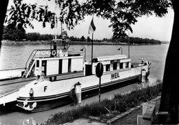 HUNINGUE - Le Bac Vu De La Rive De Weil Am Rhein - Huningue