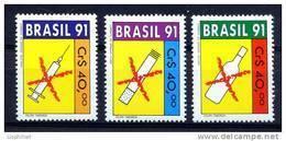 BRESIL 1991, LUTTE CONTRE DROGUE, ALCOOL, TABAC, 3 Valeurs, Neufs / Mint. R439 - Drugs