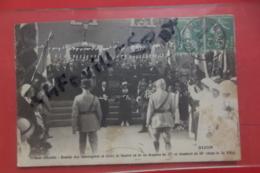 Cp Dijon Tribune Officielle Remise Des Fourrageres Et Croix De Guerre En Or Au Drapeau Du 27° - Dijon