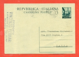 INTERI POSTALI-C143 A - 6. 1946-.. Repubblica