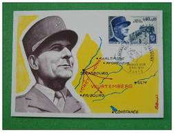 Carte Maximum Maxi Card Maréchal De Lattre - 2. Weltkrieg