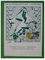 Carte Maximum Maxi Card 6 Juin 1944 Débaquement D Day Clermont Ferrand - 2. Weltkrieg