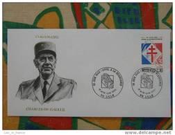 FDC Centenaire Charles De Gaulle Lille - De Gaulle (Général)