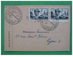 Cachet Temporaire Souvenirs Du Maréchal Leclerc 1948 Antony - 2. Weltkrieg