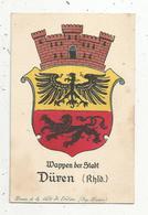 Cp, Blason , Allemagne , Wappen Der Stadt DÜREN , DUEREN , écrite 1920 - Dueren