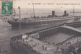 """LE HAVRE  (76)  La  """" PROVENCE""""  (190,40m )sortant Du Port - Paquebots"""