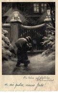 Ein Frohes Und Glückliches Weihnachtsfest 1937 Nikolaus Mit Rucksack - Santa Claus