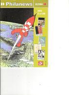 Obj12- Document Postal Sur L'édition Bloc TINTIN Et La Lune - Philanews 02/2004 - Documents Of Postal Services