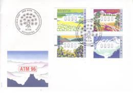 Svizzera 1996 - FDC Francobolli Automatici, 4v - FDC