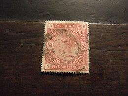 GRAN BRETAGNA 1883 VITTORIA 5 S USATO - 1840-1901 (Regina Victoria)