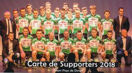 Cyclisme, Carte Des Supporters Team Pays De Dinan 2018, Format 20 X 11 Cm - Cyclisme