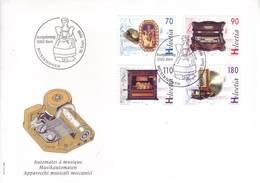Svizzera 1996 - FDC Bicentenario Del Carillon, Serie 4v - FDC