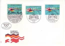 Svizzera 1993 - Lago Di Costanza, Emissione Congiunta Con Austria E Germania - Storia Postale