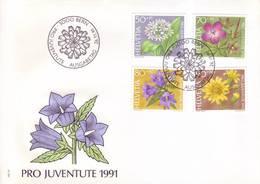 Svizzera 1991 - FDC Pro Juventute, Fiori Di Bosco - FDC