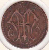 Jeton De 20 Centimes Avec Monogramme MH, à Identifier - Monétaires / De Nécessité