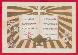 CARTOLINA VG ITALIA - Voglio Farmi Santa ... - S. Bartolomea CAPITANIO - Suore Di Carità - 10 X 15 - 1968 - Santi