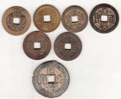 Chine. 7 Pièces De Monnaie à Identifier. - China