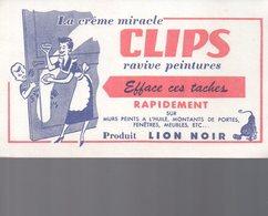 REF EX2 : Buvard Crème Clips Lion Noir - Autres