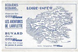 BUVARD-BLOTTING-PAPER-PRESSE-QUOTIDIEN-OUEST-FRANCE-CARTE-LOIRE-INFÉRIEURE-44 - Papeterie