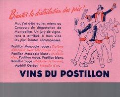 REF EX2 : Buvard Vins Du Postillon - Autres