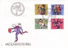 Svizzera 1990 - FDC Sviluppo Del Bambino - FDC