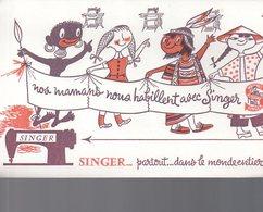 REF EX2 : Buvard SINGER Machine à Coudre - Autres