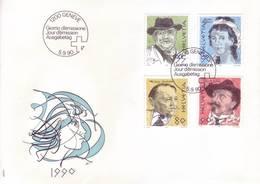 Svizzera 1990 - FDC Pittori E Scrittori Celebri - FDC