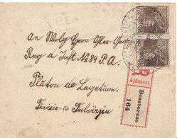 Transylvanie ;recommandé De Besztercze De 1919 ,2 Scans - Siebenbürgen (Transsylvanien)