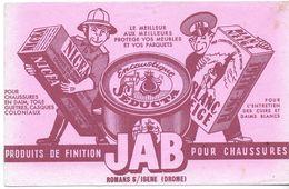 BUVARD BLOTTING PAPER PRODUIT ENTRETIEN ENCAUSTIQUE JAB ROMANS S / ISERE 26 - Andere