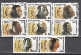 2001 Yvert Nº 1852 / 1859 MNH, Evolución De La Humanidad - Camboya