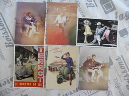 LOT  DE  6  CARTES  POSTALES   DE  SCOOTERS - Cartes Postales