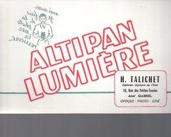REF EX2 : Buvard Altipan Lumiere Appareil Photo Photographie Talichet Paris - Autres