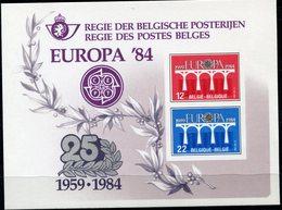BELGIQUE FEUILLET DE LUXE LX73 EUROPA 1984   (numéro COB) - Sonstige