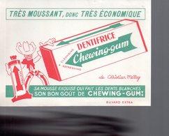 REF EX2 : Buvard Christian Merry Chewing Gum Dentifrice Cowboy - Carte Assorbenti