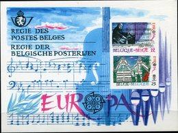 BELGIQUE FEUILLET DE LUXE LX74 EUROPA 1985 ANNEE EUROPEENNE DE LA MUSIQUE   (numéro COB) - Europa-CEPT