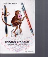 REF EX2 : Buvard Singe Baignol & Farjon André François - Carte Assorbenti