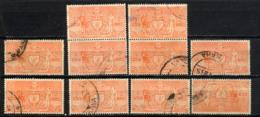 NEPAL 1961, Yvert Service 11, 2R, 1 Valeur X 10 Exemplaires, Oblitérés / Used. R864x10ind - Nepal