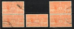 NEPAL 1961, Yvert Service 11, 2R, 1 Valeur X 5 Exemplaires, Oblitérés / Used. R864x5ind - Nepal