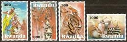 Rwanda Ruanda 2010 OBCn° 1420-1423 *** MNH  Cote Ca. 60 Euro Petite Valeur 34 FRW Manque Art Indigene - 1990-99: Neufs