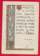 CARTOLINA VG ITALIA - Operate Il Tutto Con ... - S. Vincenza GEROSA - Suore Di Carità - 10 X 15 - 1953 FELTRE - Santi