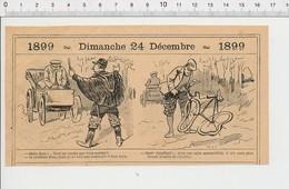 2 Scans Humour Accident De Vélo Voiture Ancienne Vieux Tacots Semelles De Chaussures Circulation Routière 226Z - Non Classificati