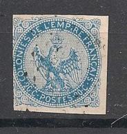 Colonies Générales - 1859 - N°Yv. 4 - Aigle 20c Bleu - Oblitéré / Used - Aigle Impérial