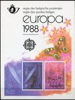 BELGIQUE FEUILLET DE LUXE LX77 EUROPA 1988 TRANSPORT ET MOYENS DE COMMUNICATION   (numéro COB) - Europa-CEPT