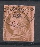 Colonies Générales - 1872 - N°Yv. 18 - Cérès 10c Brun Sur Rose - Gros Chiffres - Oblitéré / Used - Ceres