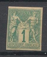 Colonies Générales - 1877 - N°Yv. 24 - Sage 1c Vert - Neuf * / MH - Sage