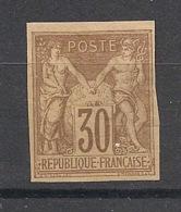 Colonies Générales - 1877 - N°Yv. 26 - Sage 30c Brun - Neuf (*) / MNG - Sage