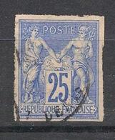 Colonies Générales - 1877 - N°Yv. 35 - Sage 25c Bleu - Oblitéré / Used - Sage