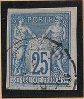 Colonies Générales - 1877-79 - N°Yv. 35 - Sage 25c Bleu - Signé Brun - TTB - Oblitéré / Used - Sage